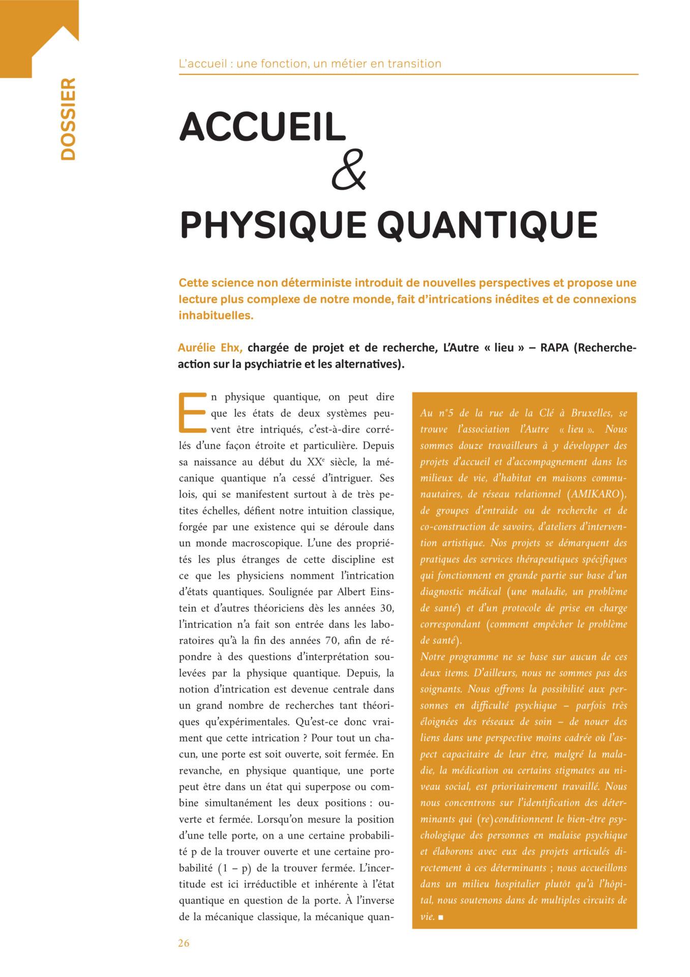 Accueil Physique Quantique L Autre Lieu